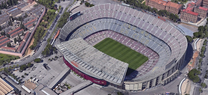 Stadio Camp Nou di Barcellona