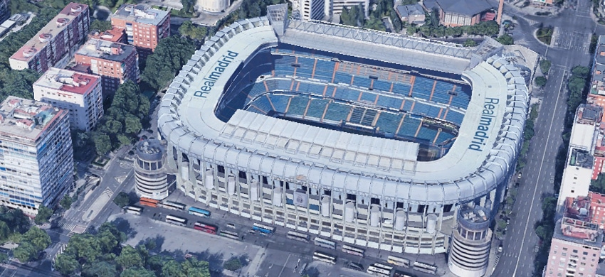 Stadio Santiago Bernabeu di Madrid